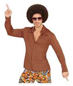 Brun 70er skjorte