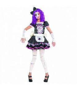 Flot halloween dukke kostume til piger