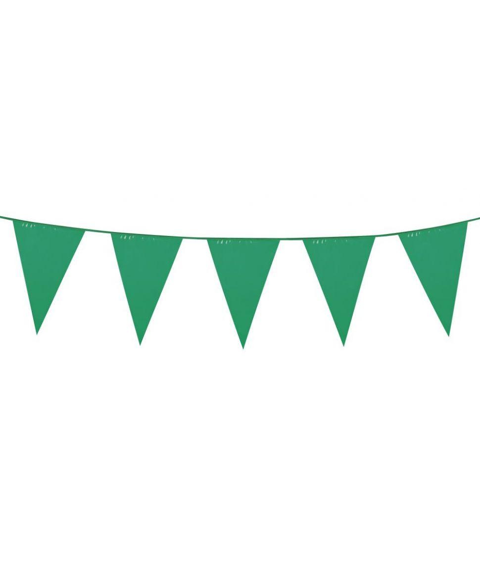 Grøn vimpelguirlande.