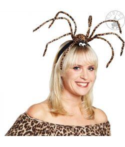 Stor edderkop på hårbøjle