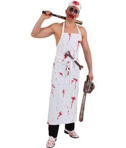 Blodigt forklæde med lomme
