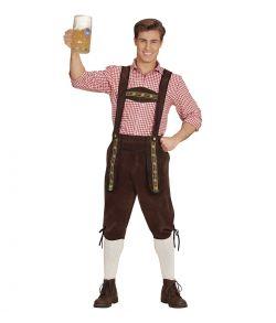 Bavarian lederhosen, mørkebrun