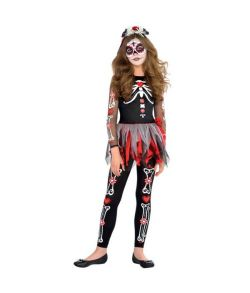 De dødes dag kostume til piger
