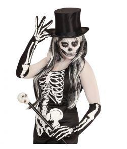 Lange skelet handsker 50 cm