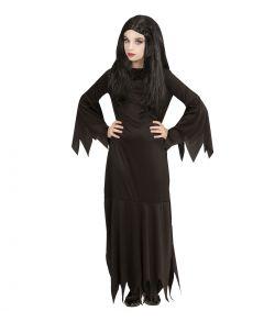 Mortisia kjole til halloween.