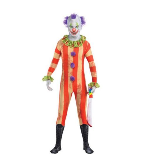 Scary Clown Skinsuit til voksne