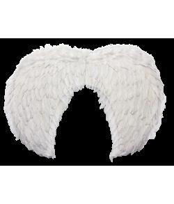Hvide fjervinger 60 x 45 cm.