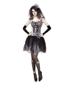 Skelet kostume til damer.