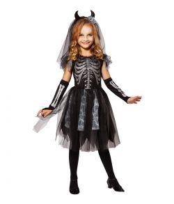 Skelet kjole kostume til piger.