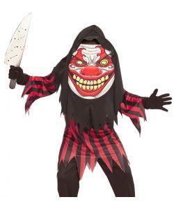 Uhyggeligt klovne kostume til børn.