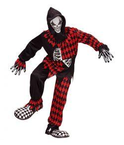 Evil Jester kostume til børn