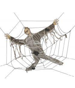 Zombie med spindelvæv dekoration