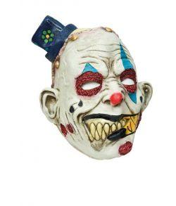 Uhyggelig klovne maske med hat