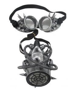 Gasmaske med goggles