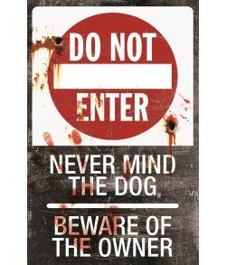Do not enter skilt