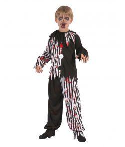 Uhyggeligt halloween klovnekostume til børn