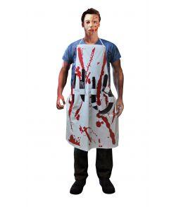 Blodigt forklæde med våben