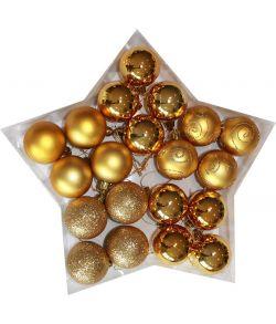Guld julekugler 5 cm
