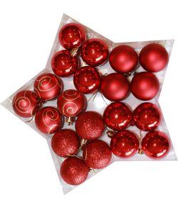 Røde julekugler 5 cm