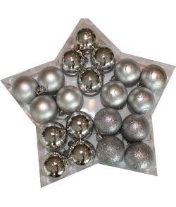 Sølv julekugler 5 cm