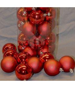 Røde julekugler 6 cm, 50 stk
