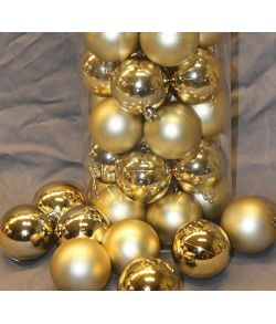 Guld julekugler 6 cm, 50 stk