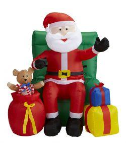Oppustelig Julemand med gaver