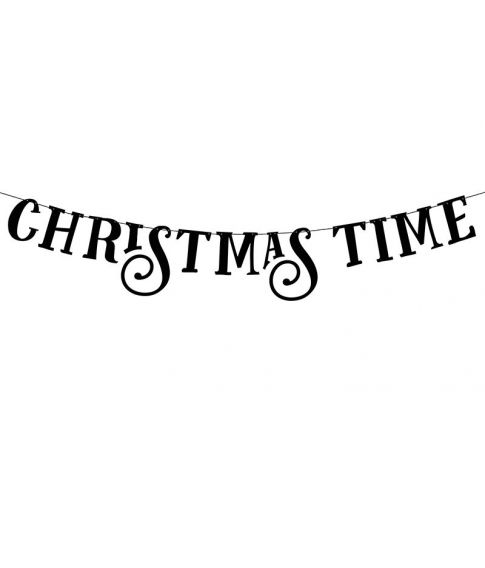 Christmas Time bogstav banner