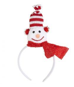 Hårbøjle med snemand hoved