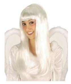 Hvid engel paryk.