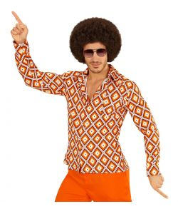 Skjorte med mønster til 70er udklædningen.
