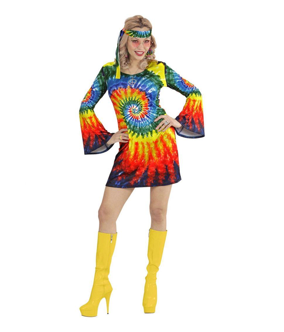 Billig hippie kjole til 60er festen. - Fest & Farver