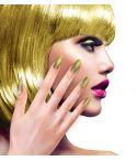 Negle med guld glimmer