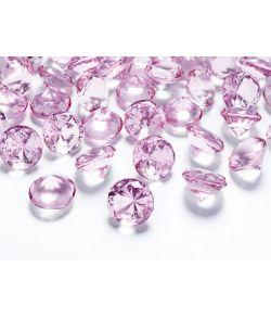 Diamant konfetti lyserød 10stk
