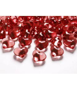 Krystalhjerter rød 21 mm 30 stk