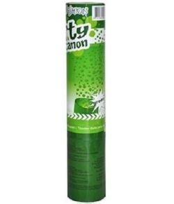 Grøn konfetti kanon.