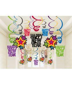 Happy New Year spiraler 30 stk