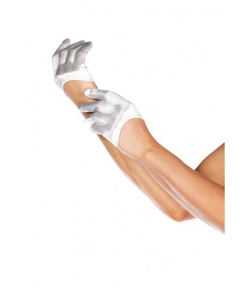 Hvide mini handsker.