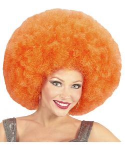 Stor afro paryk, orange