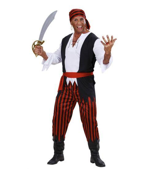 Pirat kostume til voksne.