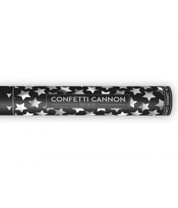 Konfetti kanon sølvstjerner 40 cm