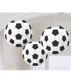 Fodbold lanterner 3 stk