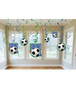 Fodbold spiraler 12 stk