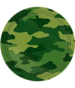 Camouflage tallerkner 17,8 cm
