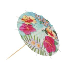 Hawaii cocktail parasoller 6 stk 18 cm
