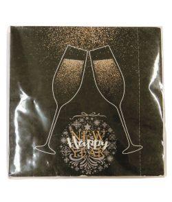 Happy new year serviet sort 33x33 cm