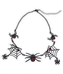 Edderkop halskæde, sort