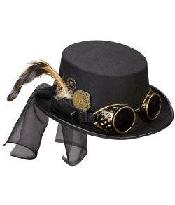 Steampunk hat med briller.