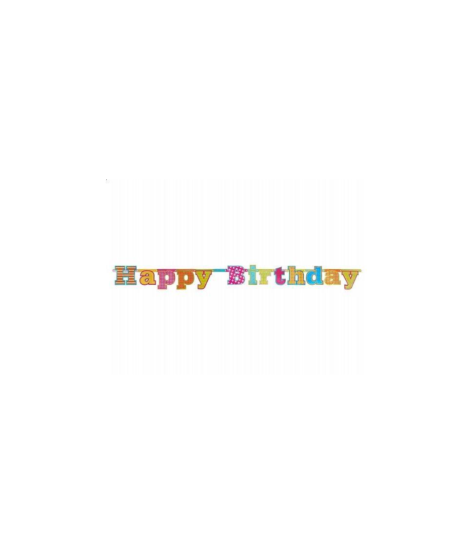 Happy Birthday banner holografisk