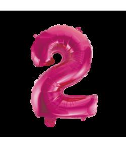 Folie tal ballon 2 pink, 41 cm